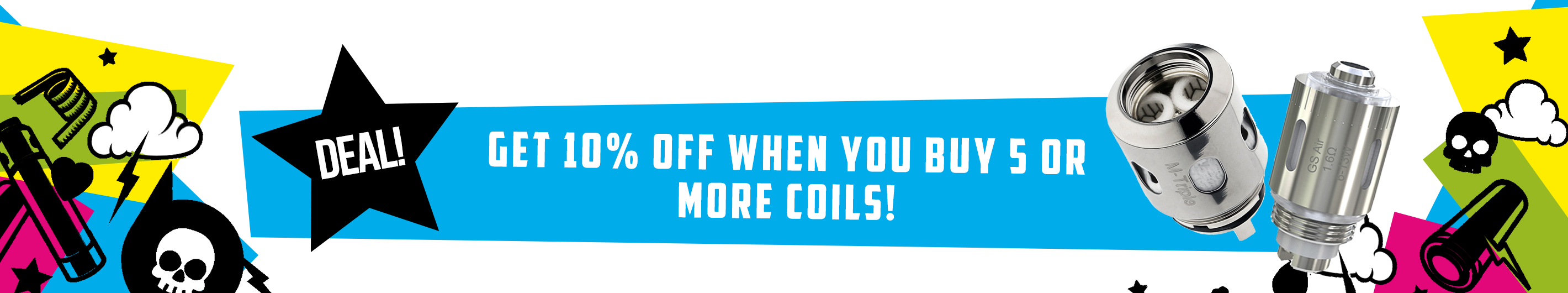 Coils - 10% off when you buy 5