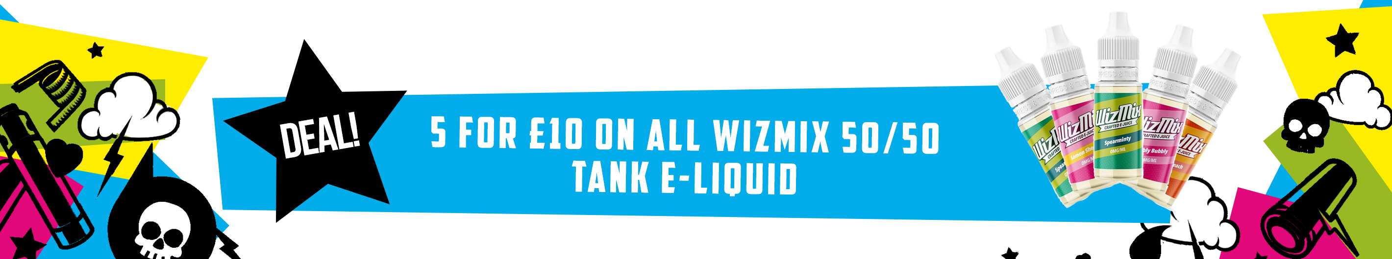 Wizmix 10ml - 5 for £10