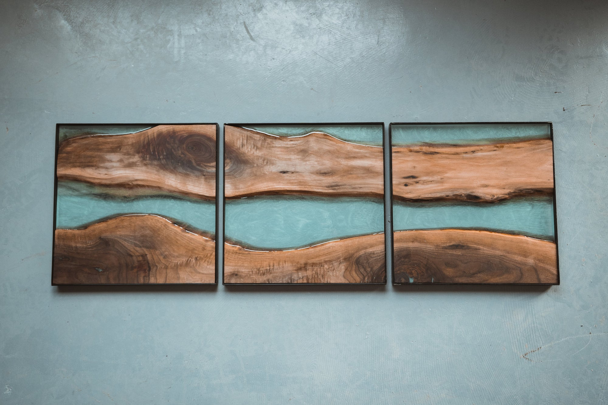 River Artwork Series - Black Walnut