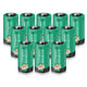 Enegitech CR123A Lithium Battery, CR123A 3.7V 750mAh Lithium Battery for ARLO Camera VMC3030 Flashlight Camcorder Toy Torch Alarm System - 12Pack