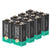 9V Lithium Batteries 600mAh 8 Pack Non-Rechargeable (Upgraded Version)