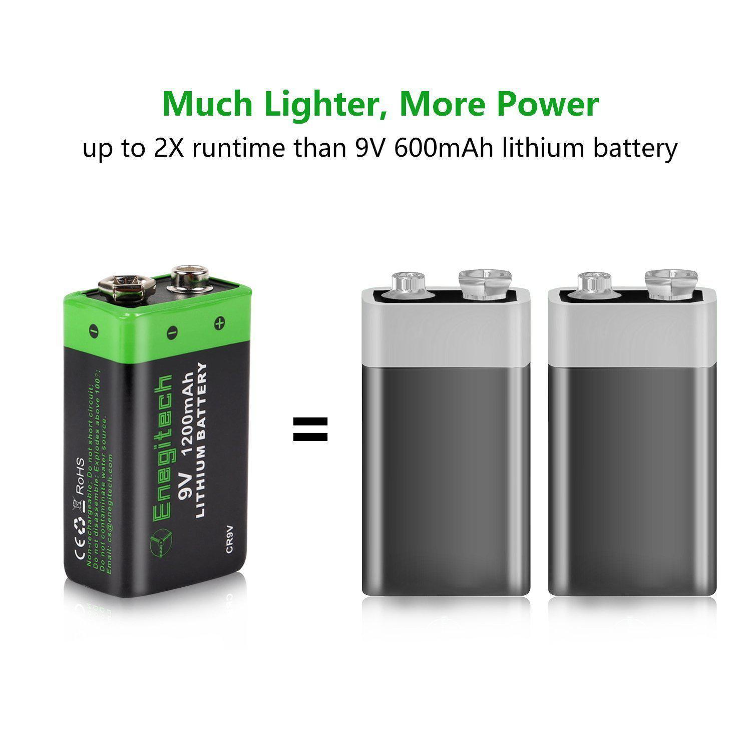9v Lithium Battery Non Rechargeable For Smoke Detector Fire
