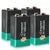 9V Lithium Battery 4 Pack 1200mAh Non-Rechargeable (Upgraded Version)