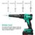 Enegitech Electric Rivet Gun 18V Lithium-ion Automatic Cordless Blind Rivet Tool ( Bare Tool )