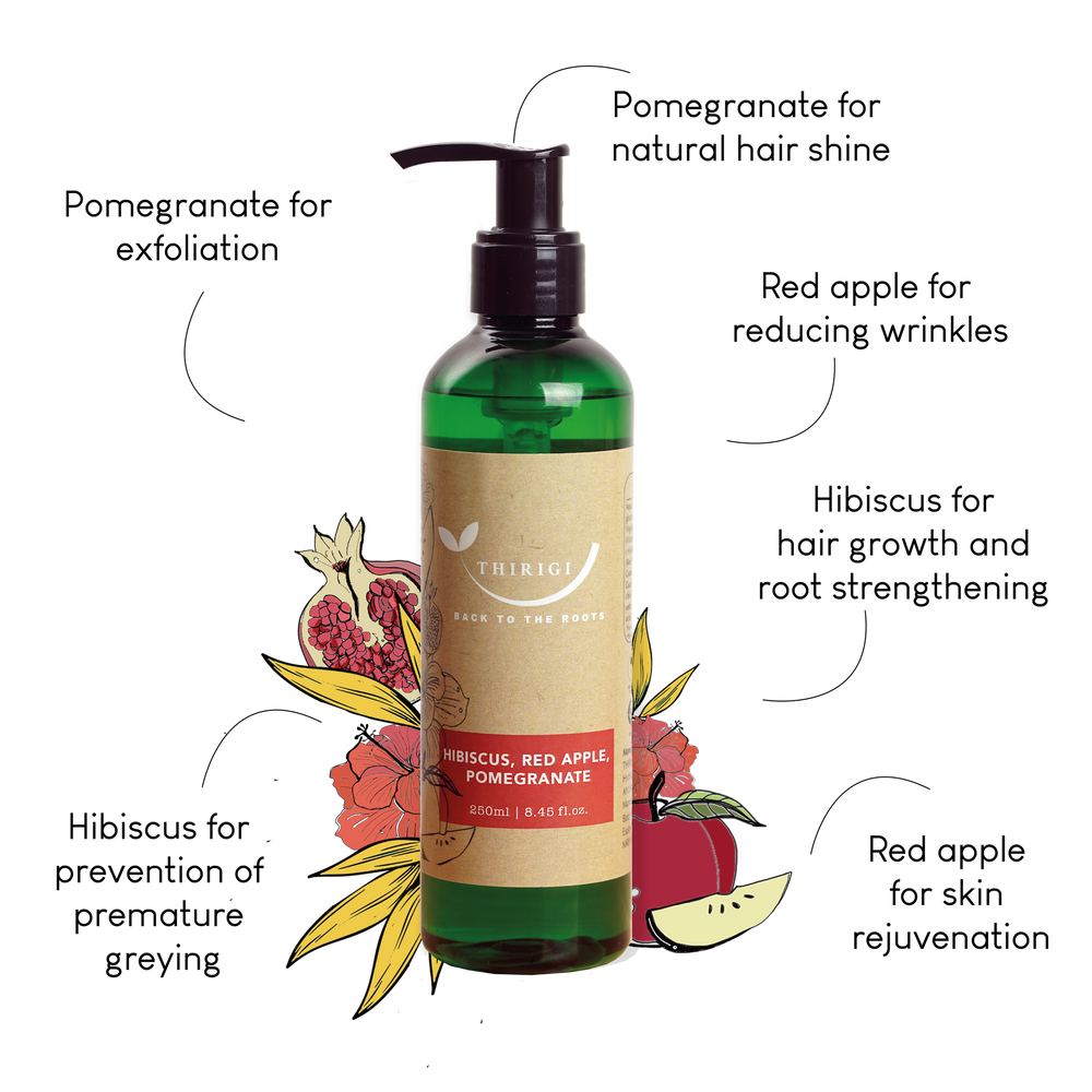 Hair & Body Wash (Hibiscus, Pomegranate & Red Apple Extract)