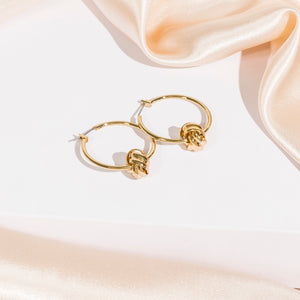 Modern Essentials - Gold Hoop Knot Earrings