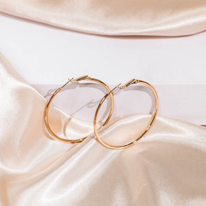Modern Essentials - 18k Gold Hoops Earrings