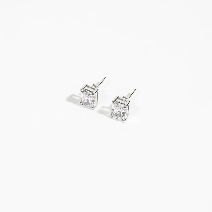 Built On Self Success (BOSS) Collection - Silver Simply Stunning Studs