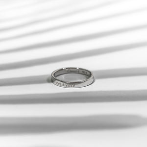 Resilience Ring - Rhodium (White Gold) Plated