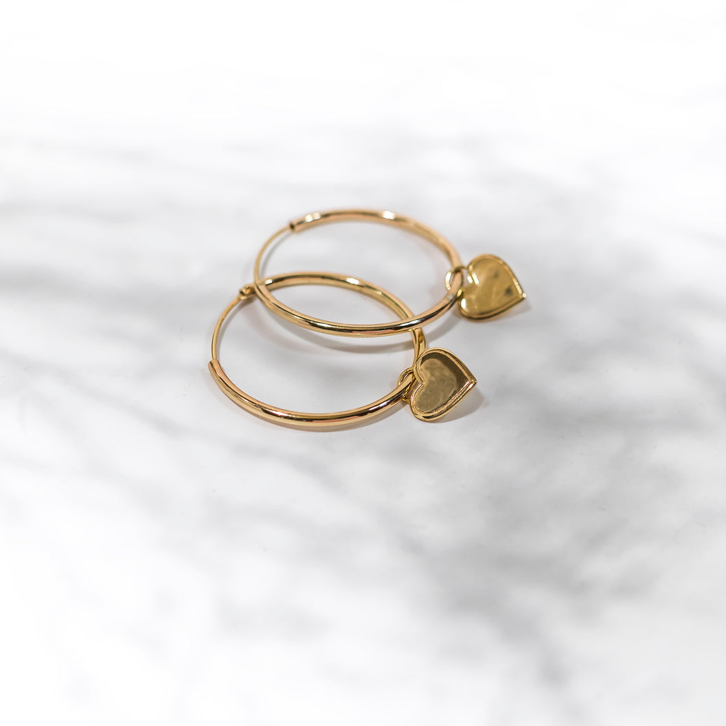 Self-Love Collection - Gold Hoop Earrings