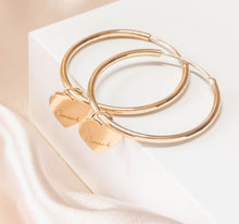Load image into Gallery viewer, Self-Love Collection - Gold Hoop Earrings - Crowned