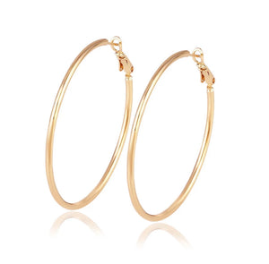 Modern Essentials - Rose Gold Hoops Earrings - Crowned