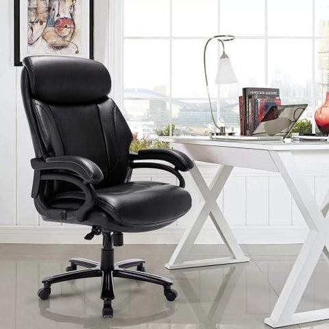 Tall 400lb Bonded Leather Office Chair,Computer Swivel Chair