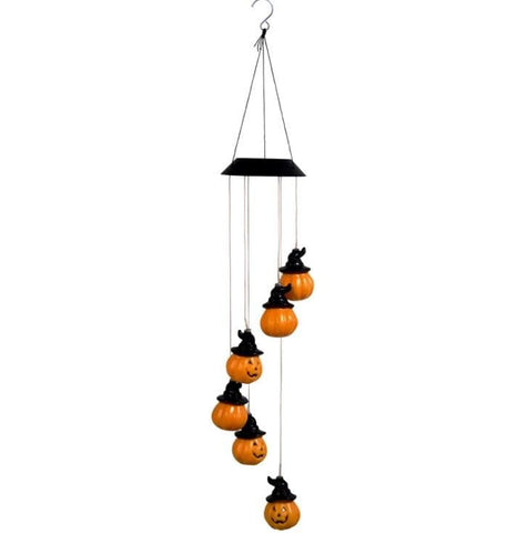 New led solar halloween wind chime lamp, outdoor garden decoration chandelier