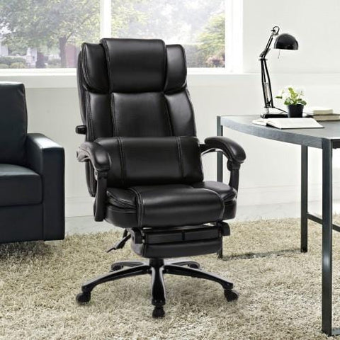 Tall Reclining Office Chair with Adjustable Built-in Lumbar Support
