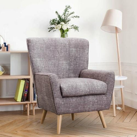 Contemporary Accent Chair for Living Room, Reading Chair,Grey