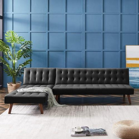 Reversible PU Sectional Sofa L-shaped Sofa For Living Room