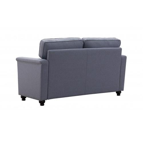 Polyester Fabric Corner Sofa For Living Room, 2 Seat Sofa