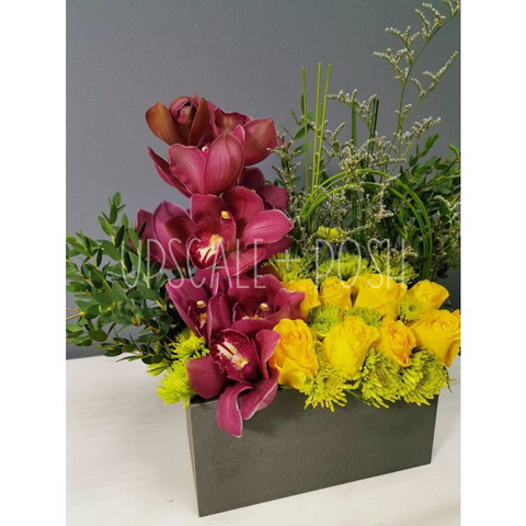 Orchid and Foliage Box Display
