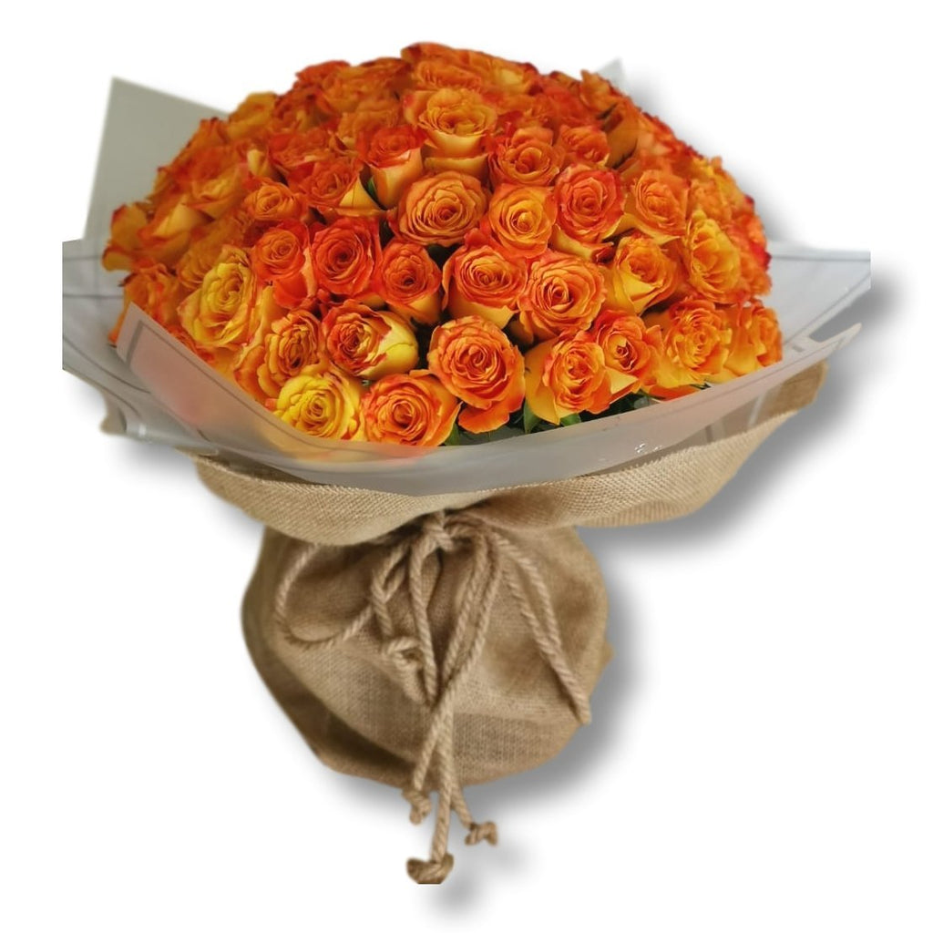 101 Luxury Coral Peach Roses - Upscale and Posh - Same Day Flower Delivery Dubai