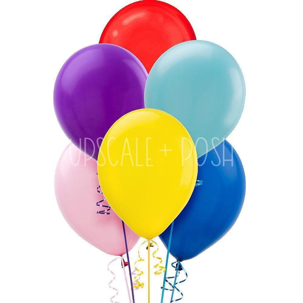Assorted Colours Balloons - 15pcs. - Upscale and Posh - Same Day Flower Delivery Dubai