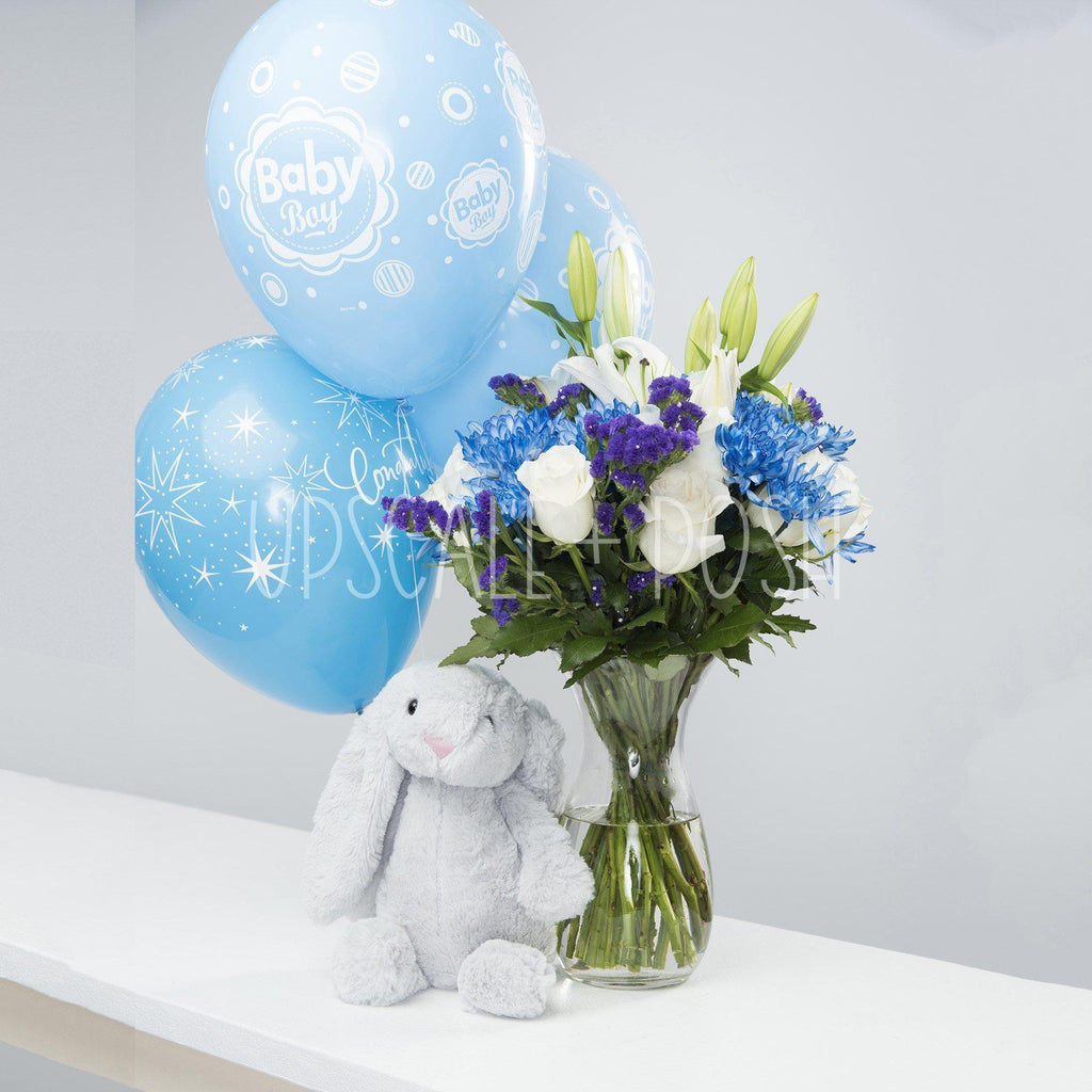 Baby Boy Bunny Combo - Upscale and Posh - Same Day Flower Delivery Dubai