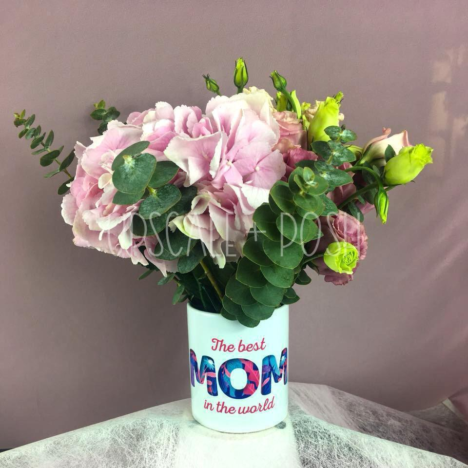 Best Mum's Flower Mug Bouquet - Upscale and Posh - Same Day Flower Delivery Dubai
