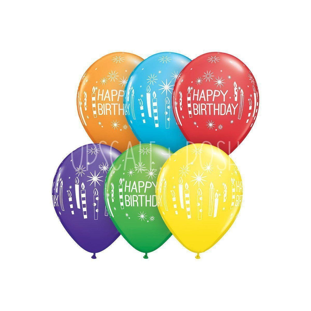 Happy Birthday Balloon - 15pcs. - Upscale and Posh - Same Day Flower Delivery Dubai