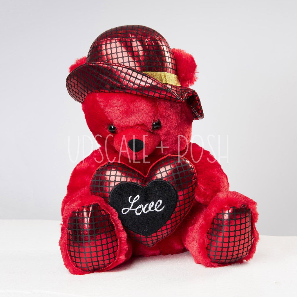 I Love You Teddy Bear in Hat - Upscale and Posh - Same Day Flower Delivery Dubai