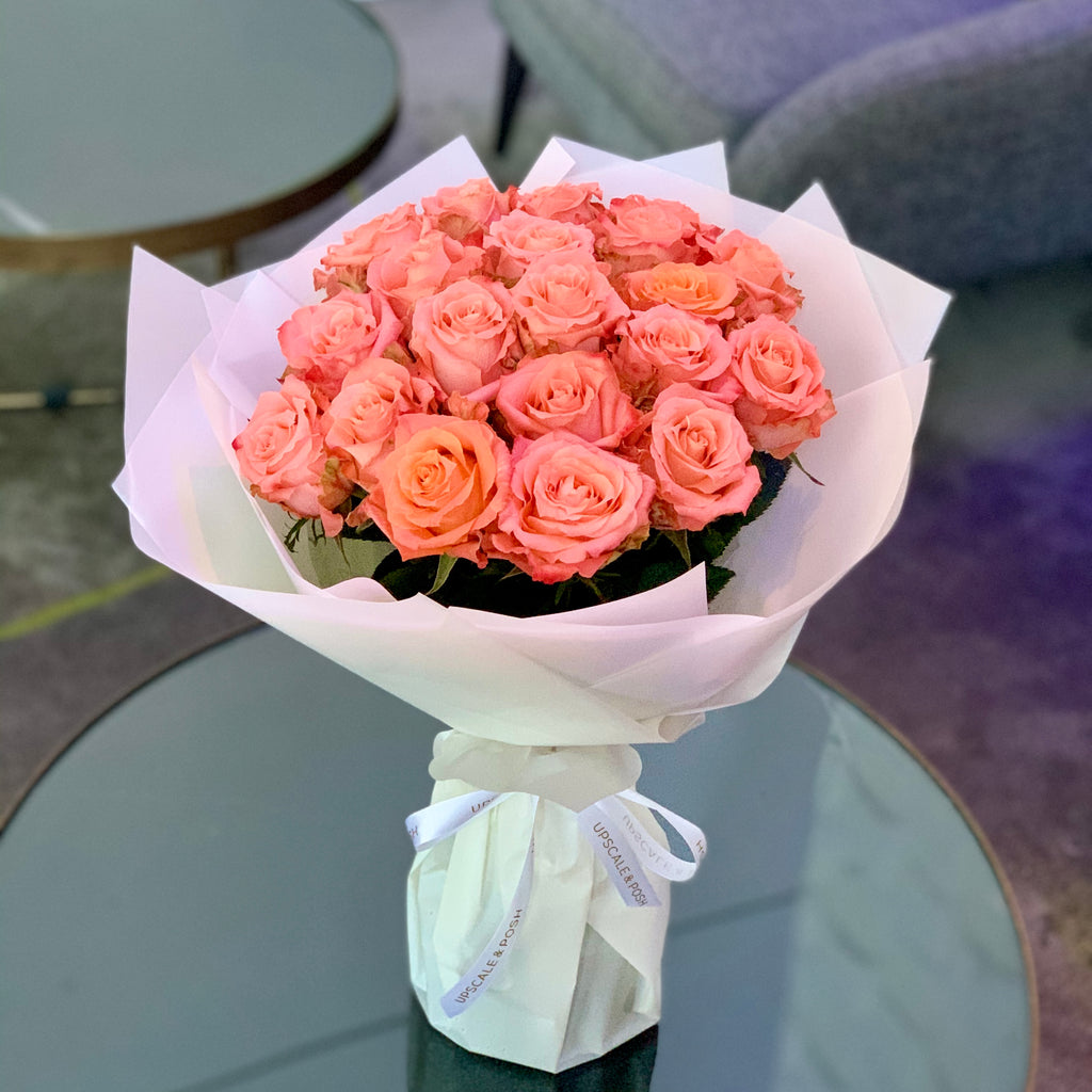 Luxury Coral Peach Roses