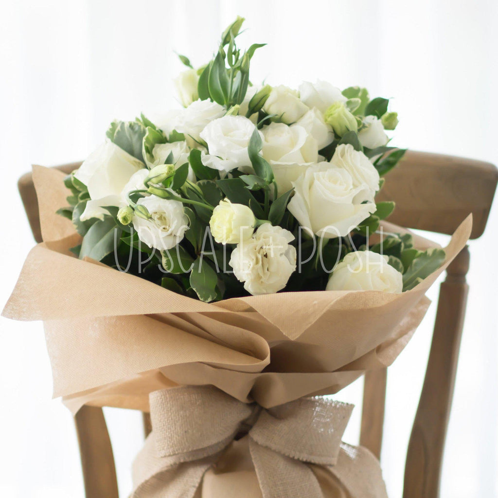 Soft Innocence Bouquet - Upscale and Posh - Same Day Flower Delivery Dubai
