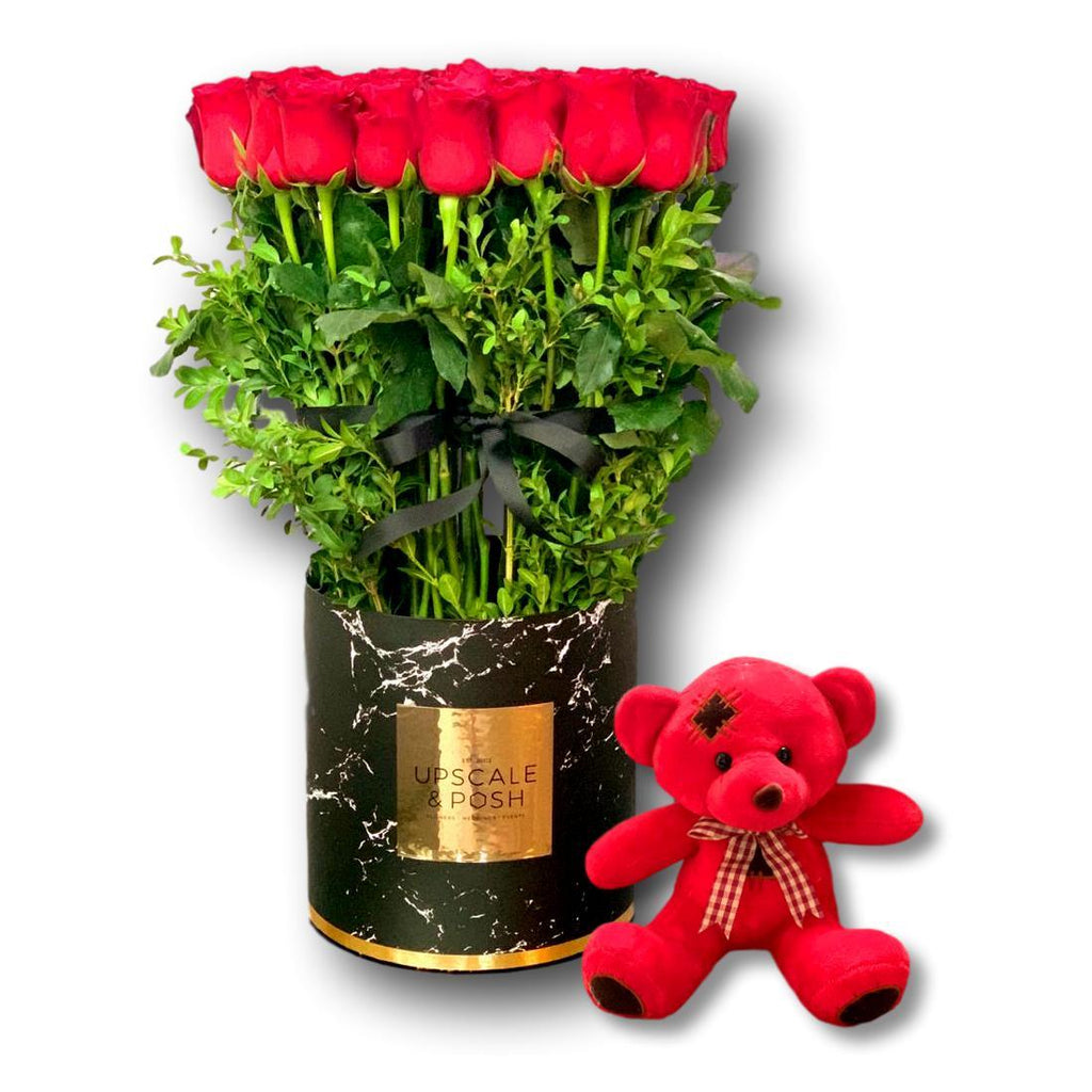 St Austell Teddy Combo - Upscale and Posh - Same Day Flower Delivery Dubai