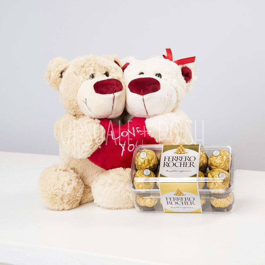 We Are Together Teddy n Chocolates - Upscale and Posh - Same Day Flower Delivery Dubai