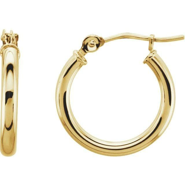 TUBE HOOP EARRINGS (2MM WIDTH)