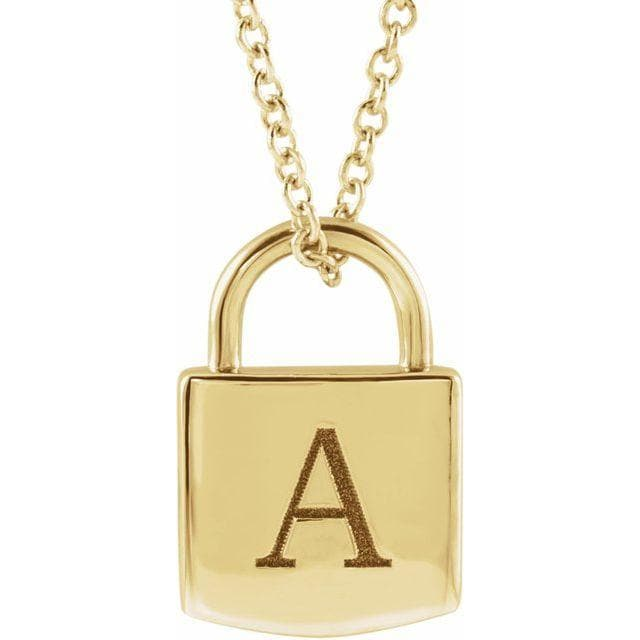 ENGRAVABLE LOCK NECKLACE