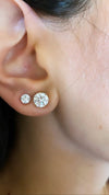 Classic Diamond Studs. Total carat weight 1.02.