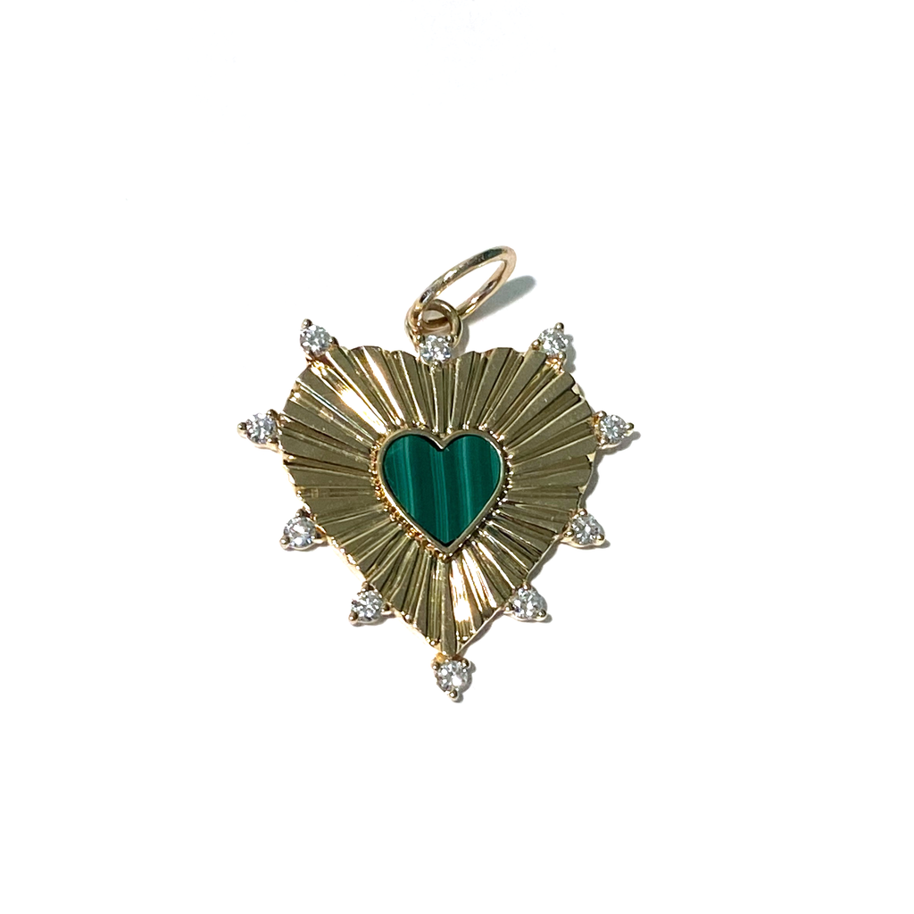 FLUTED HEART CHARM