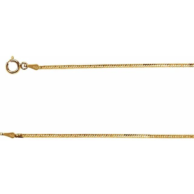 Herringbone necklace with 4mm width in solid 14 karat yellow gold