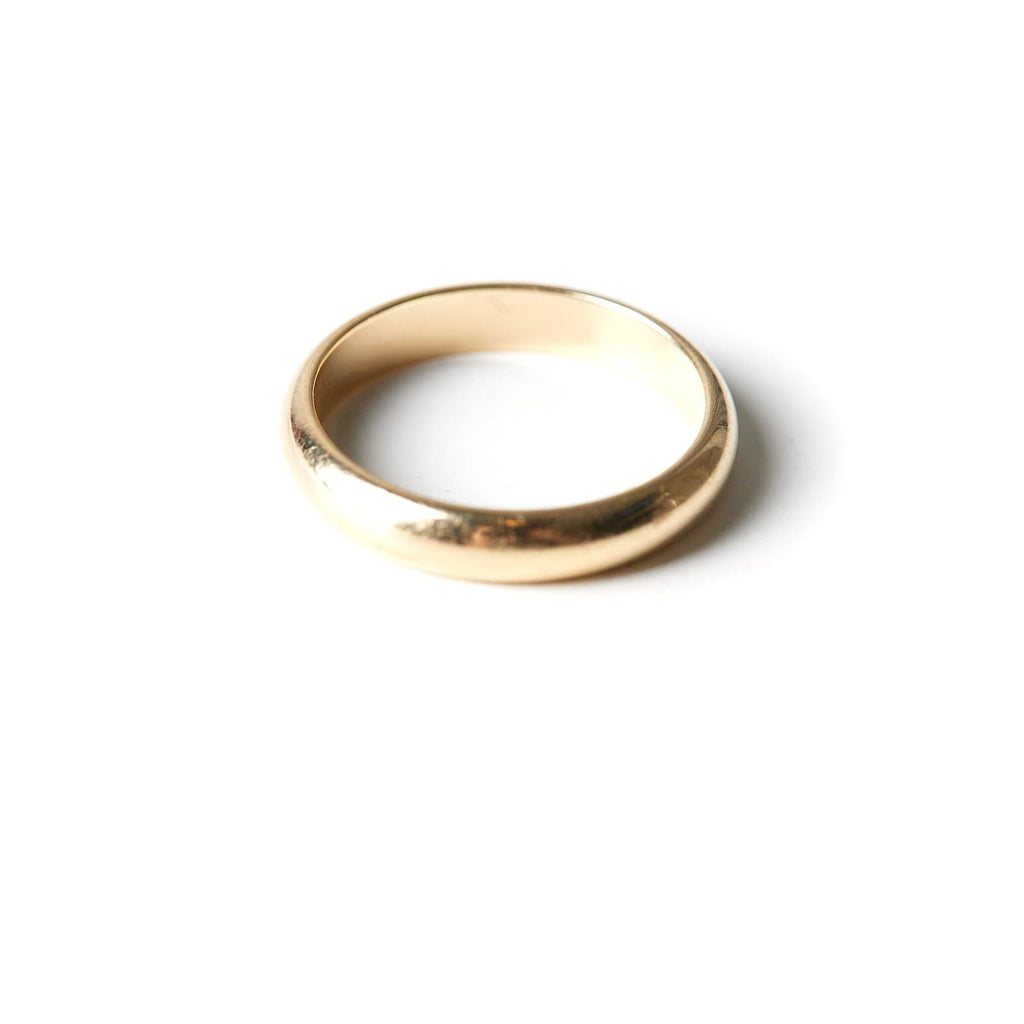 Pinky ring 3 mm thick in solid 14 karak gold