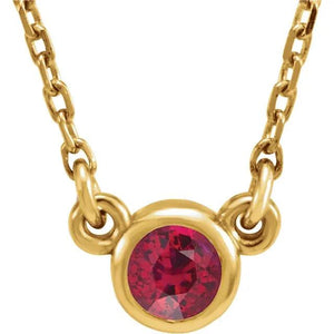 BEZEL GEMSTONE NECKLACE