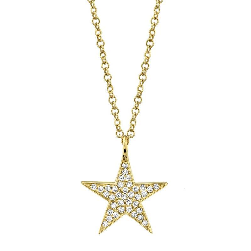 PAVE DIAMOND STAR NECKLACE