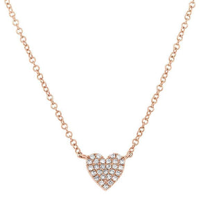 MINI PAVE DIAMOND HEART NECKLACE