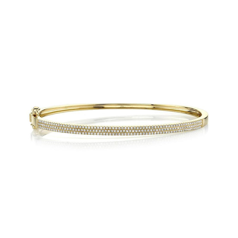 TRIPLE ROW PAVÉ DIAMOND BANGLE