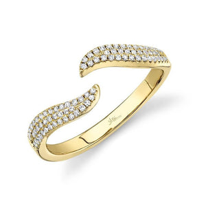 PAVE DIAMOND CLAW RING