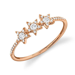 PAVE DIAMOND STAR RING