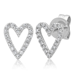DIAMOND OPEN HEART EARRINGS