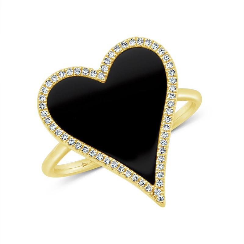 GEMSTONE HEART RING
