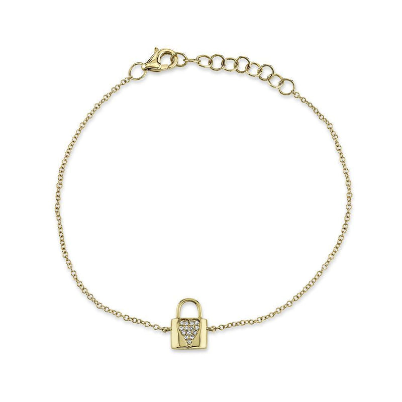 DIAMOND HEART LOCK BRACELET