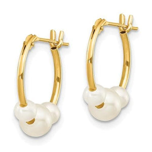 FRESHWATER PEARL MINI HOOPS