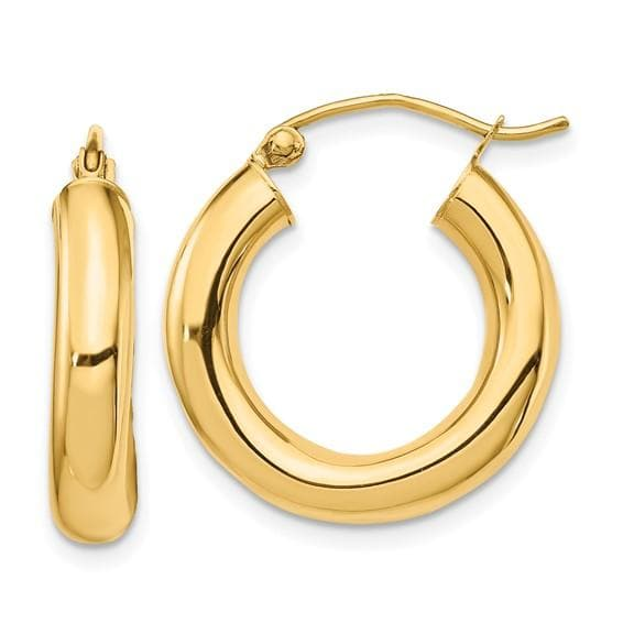 TUBE HOOP EARRINGS (4mm Width)